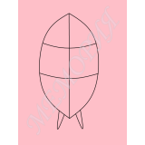 """Каркас для венка """"Овал"""" (2 перемычки + ось) 101см*46см (к42.2.В)"""