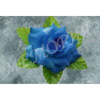Насадка розы на шёлковом листе d=15 см (уп 30 шт) (н541365.1.Н)